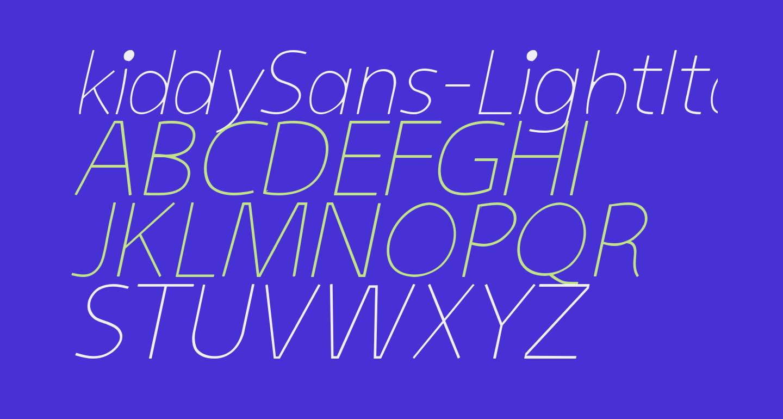 kiddySans-LightItalic