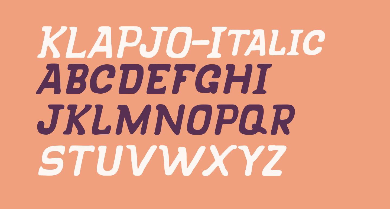 KLAPJO-Italic