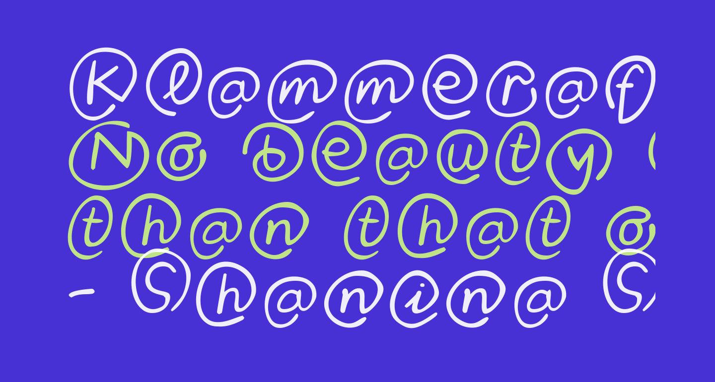 Klammeraffen-Italic