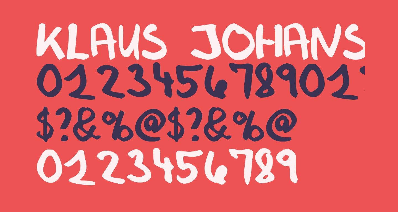 Klaus Johansens haandskrift