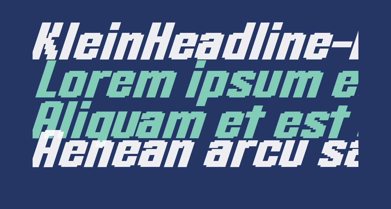 KleinHeadline-BoldOblique