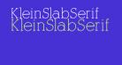 KleinSlabSerif