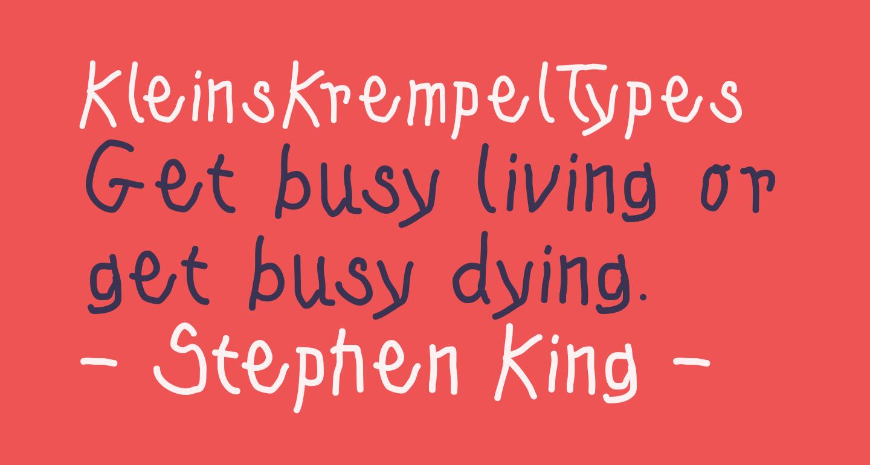 KleinsKrempelTypes