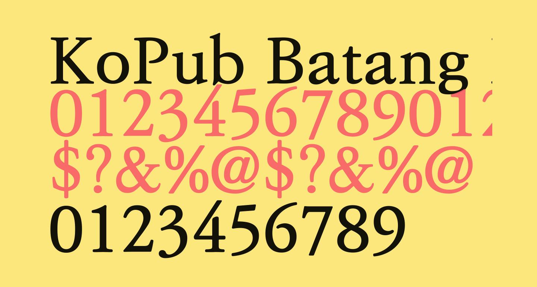 KoPub Batang Bold