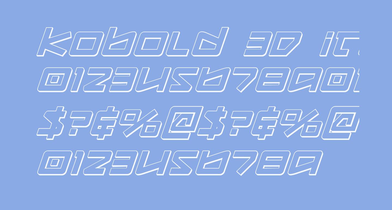 Kobold 3D Italic