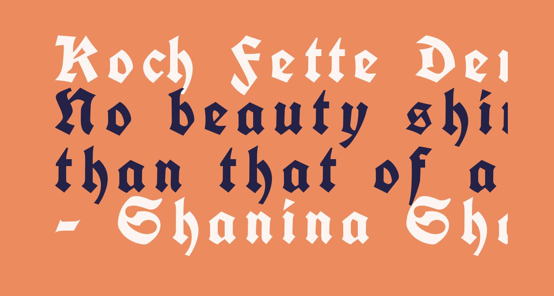 Koch Fette Deutsche Schrift UNZ1A Italic