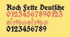 Koch Fette Deutsche Schrift