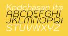 Kodchasan Italic