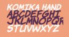Komika Hand Bold Italic