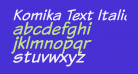 Komika Text Italic