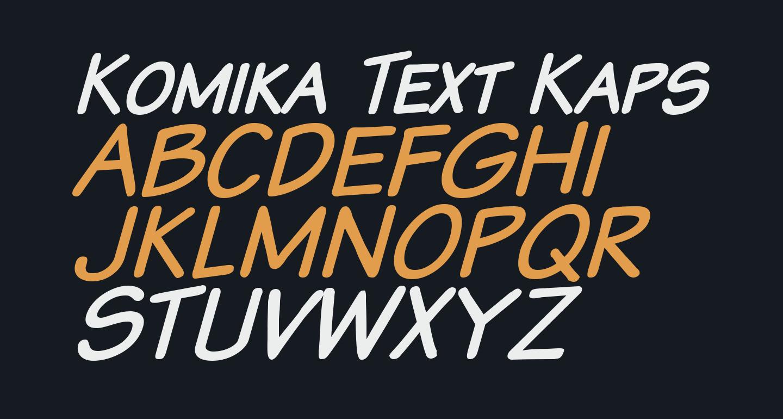 Komika Text Kaps Italic