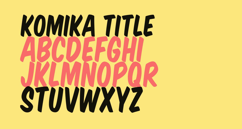 Komika Title