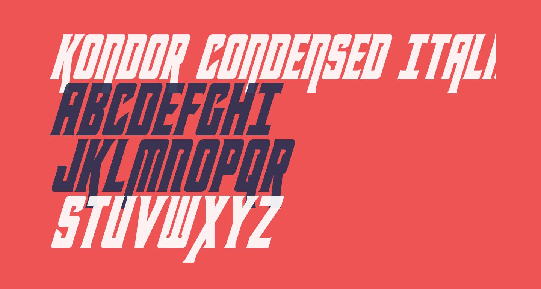 Kondor Condensed Italic