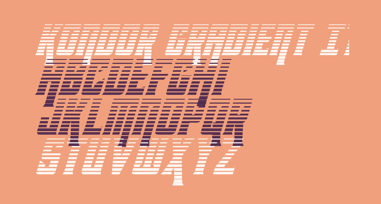 Kondor Gradient Italic