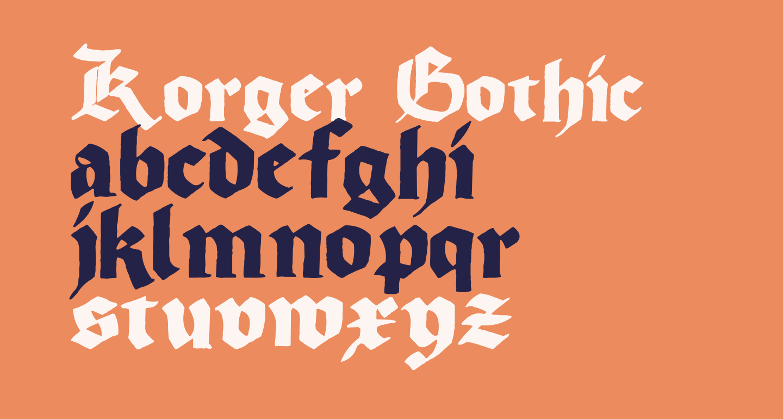 Korger Gothic