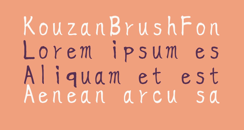 KouzanBrushFontGyousyoOTF