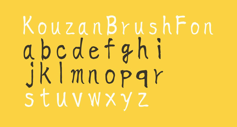 KouzanBrushFontOTF