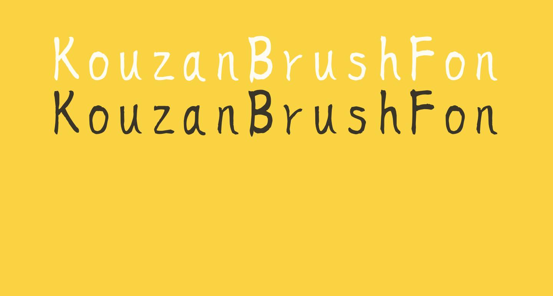 KouzanBrushFontSousyoOTF