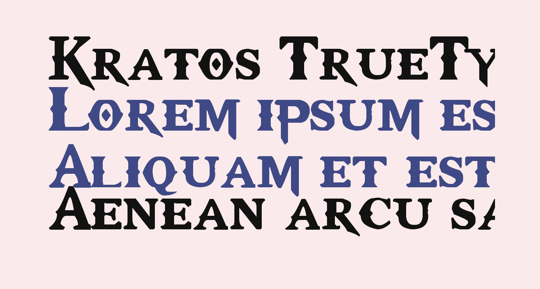 Kratos TrueType - GOD $ WAR
