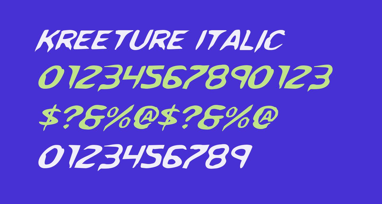 Kreeture Italic
