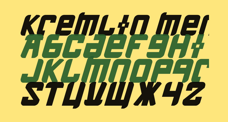 Kremlin Menshevik Bold Italic