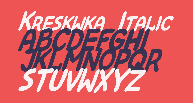 Kreskwka  Italic
