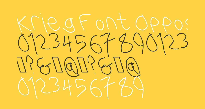 Krieg Font Opposite Oblique