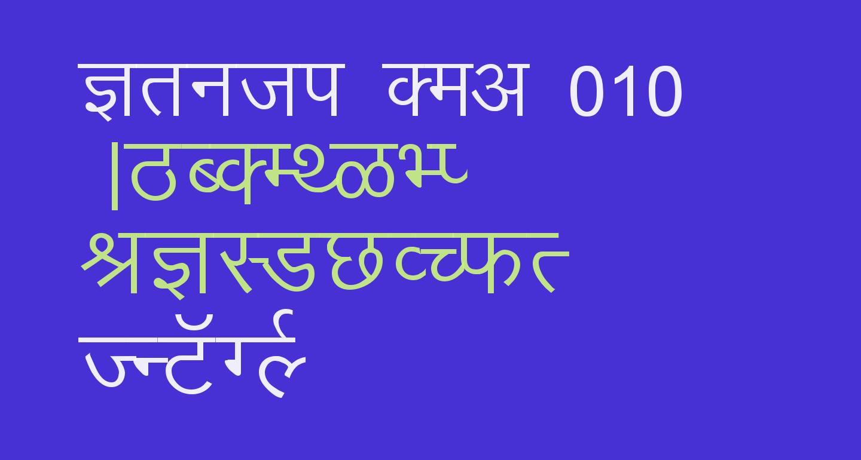 Kruti Dev 010