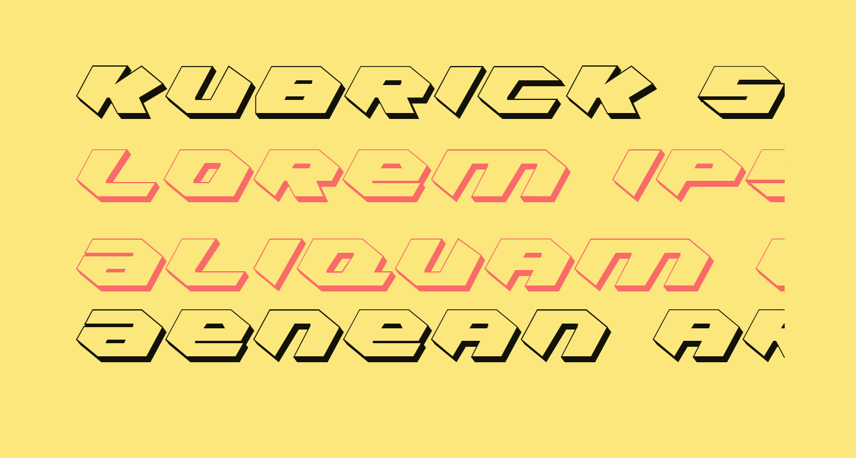 Kubrick Shadow Condensed