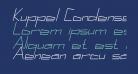 Kuppel Condensed Bold Italic