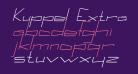 Kuppel Extra-expanded Bold Italic