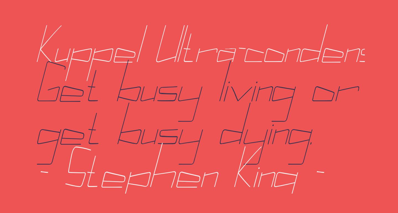 Kuppel Ultra-condensed Thin Italic