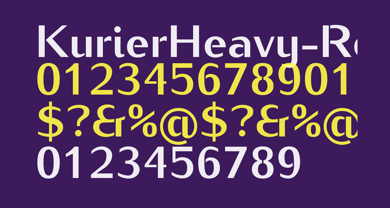 KurierHeavy-Regular