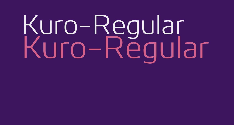 Kuro-Regular