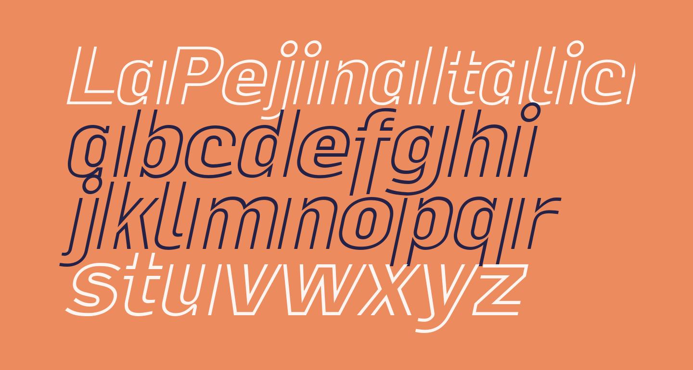 LaPejinaItalicFFP-Italic