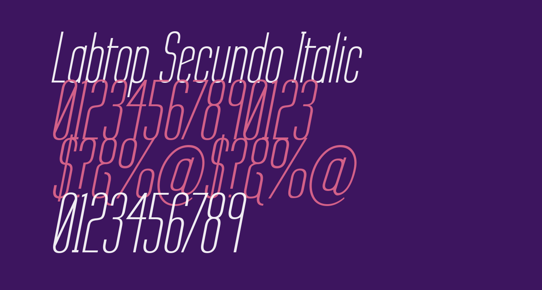 Labtop Secundo Italic