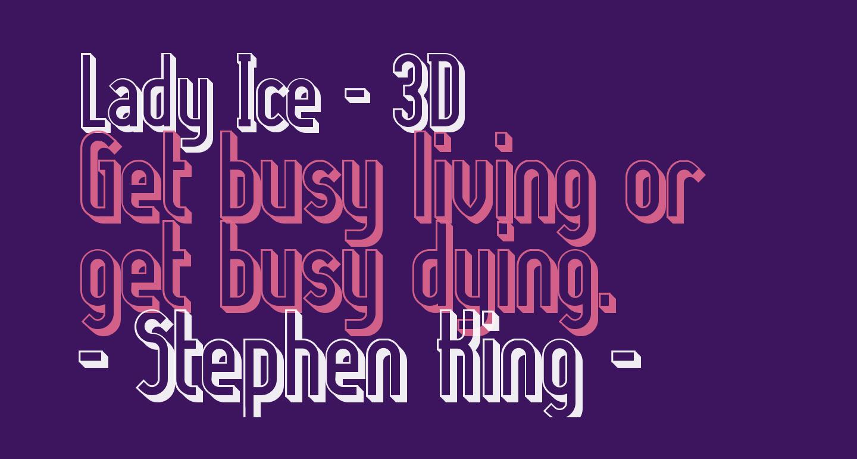 Lady Ice - 3D