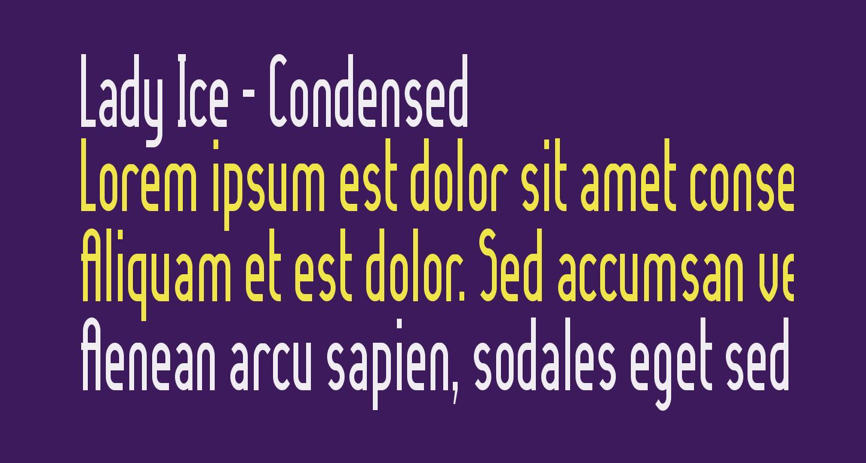 Lady Ice - Condensed