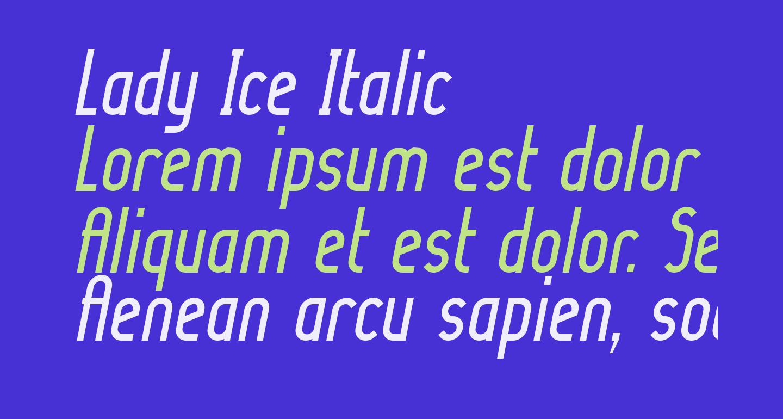 Lady Ice Italic
