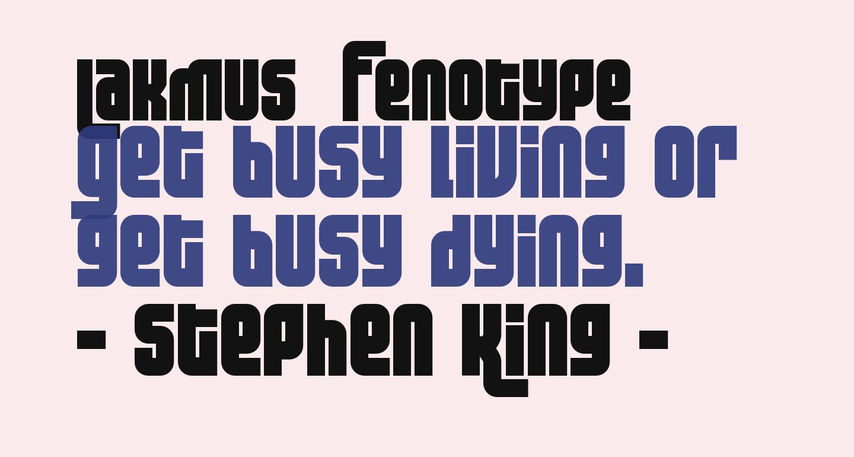 Lakmus  Fenotype