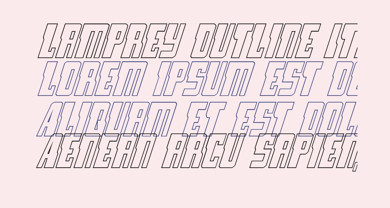 Lamprey Outline Italic