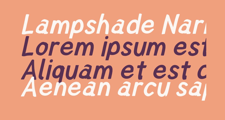 Lampshade Narrow Oblique