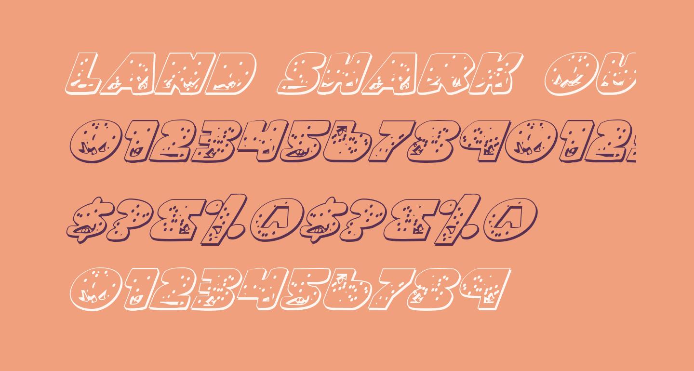 Land Shark Outline Italic