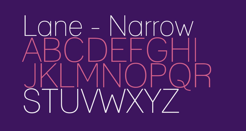 Lane - Narrow