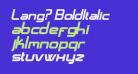 Lang? BoldItalic