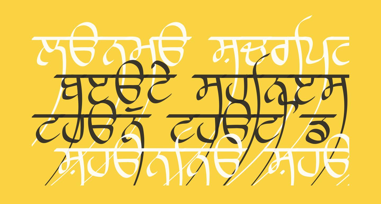 Lanma Script Light
