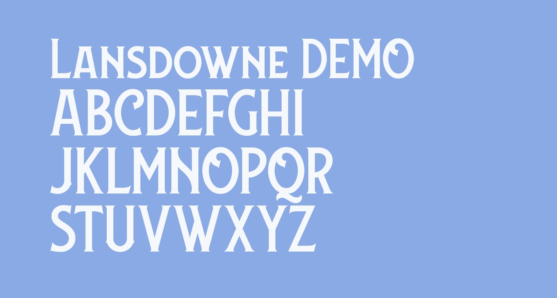 Lansdowne DEMO