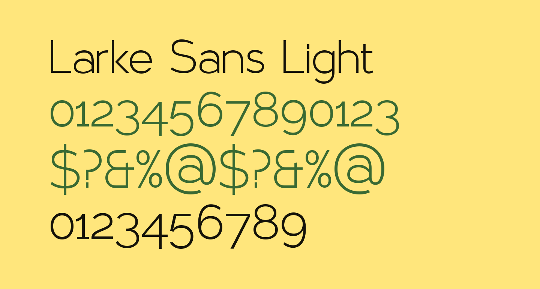 Larke Sans Light