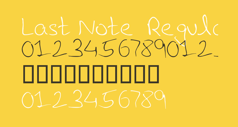 Last Note  Regular