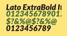 Lato ExtraBold Italic